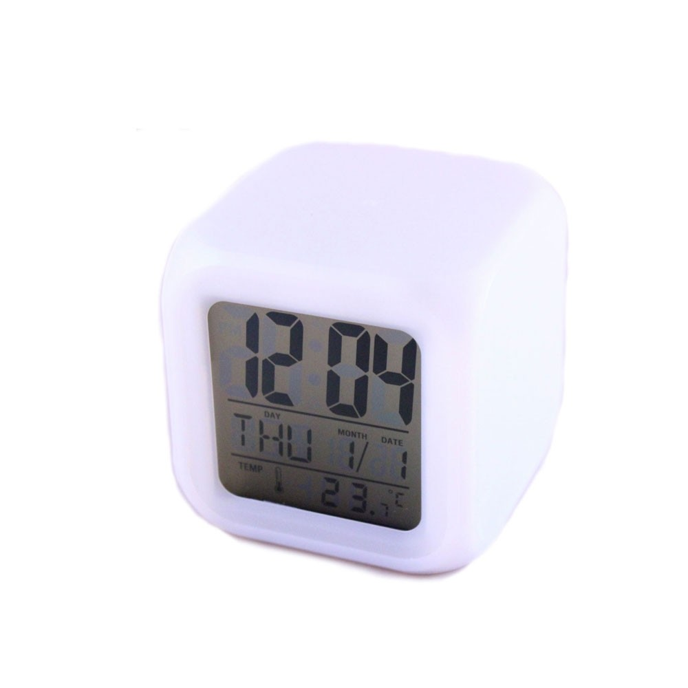 Επιτραπέζιο Ψηφιακό Ρολόι με Ξυπνητήρι (Άσπρο) - Monsters.gr 8bfec9af394