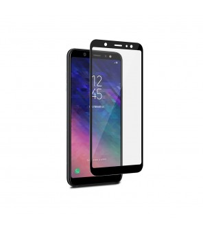Frame Tempered Glass Puro για Samsung Galaxy A6 Plus 2018 (Μαύρο)