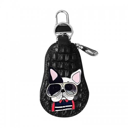 Μπρελόκ Πορτοφόλι French Bulldog in Sunglasses (Μαύρο)