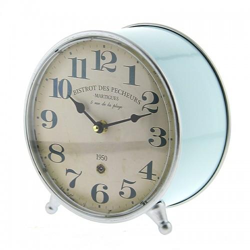 Μεταλλικό Ρολόι Bistrot 1950 (Γαλάζιο)