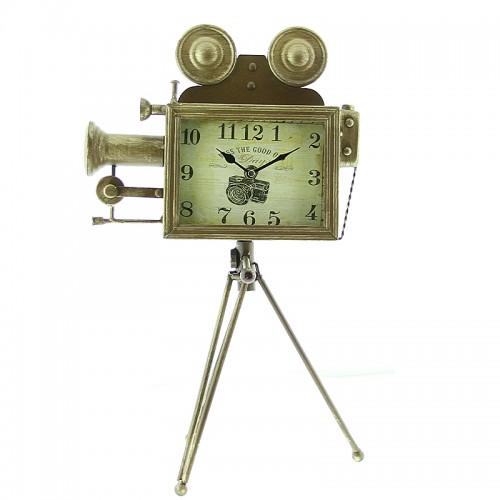 Επιτραπέζιο Ρολόι Κινηματογραφική Κάμερα (Χρυσό)