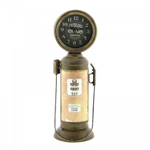 Μεταλλικό Ρολόι Αντλία Βενζίνης Gasoline (Καφέ)