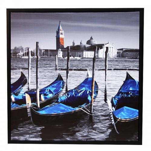 Διακοσμητικό Κάδρο 59x59 Blue Gondolas (Design)