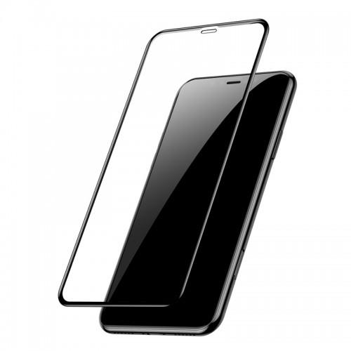 Baseus Full Cover 3D Curved Tempered Glass για iPhone XR (Μαύρο)