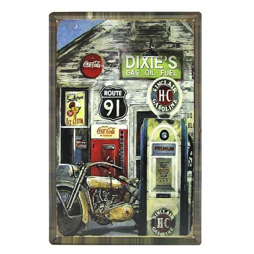 Μεταλλική Διακοσμητική Πινακίδα Τοίχου Dixie's 40X60