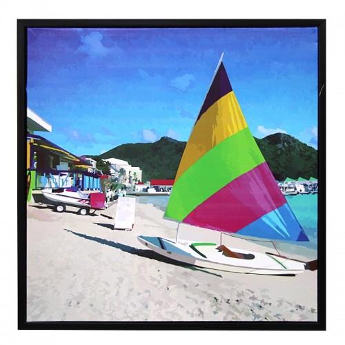 Διακοσμητικό Κάδρο 59x59 Colorful Windsurf (Design)