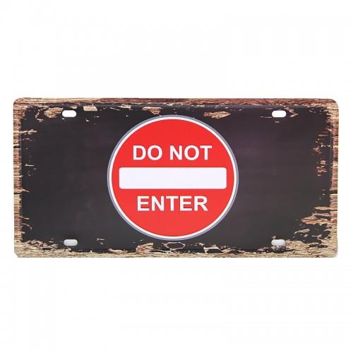 Μεταλλική Διακοσμητική Πινακίδα Τοίχου Do Not Enter 15X30