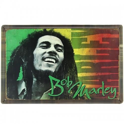 Μεταλλική Διακοσμητική Πινακίδα Τοίχου Bob Marley 40X60