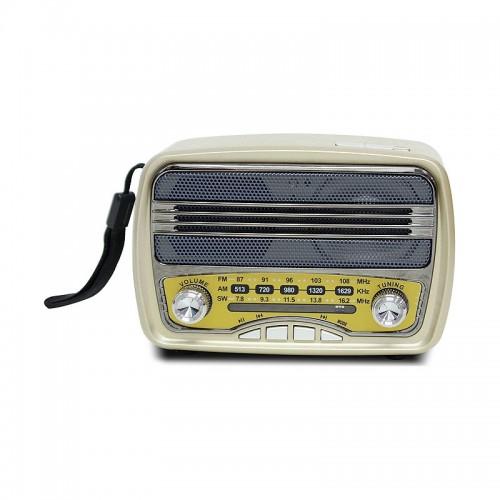 Ηχείο με Ραδιόφωνο Meier M-166BT (Χρυσό)