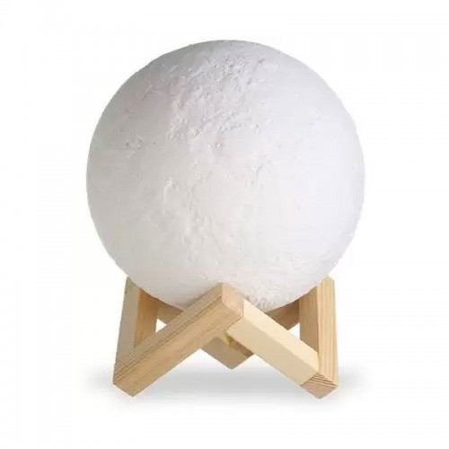 3D Λάμπα σε Σχήμα Φεγγάρι με USB (Design)