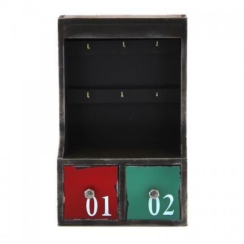 Mini Συρταριέρα Τοίχου με Πιαστράκια για Κλειδιά (Design)