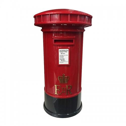 Πλαστικός Κουμπαράς σε σχήμα Ταχυδρομικό Κουτί με Φως (Κόκκινο)