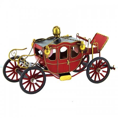 Μεταλλική Διασκοσμητική 'Αμαξα (Κόκκινο)