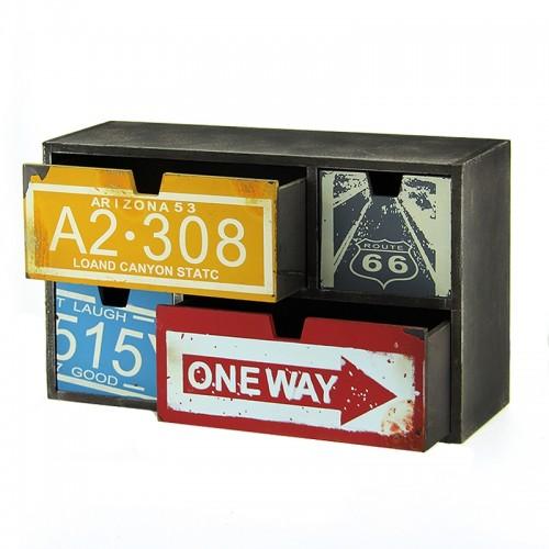 Ξύλινη Συρταριέρα με 4 Αποθηκευτικούς Χώρους A2.308 (Design)