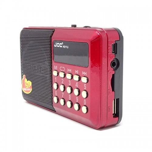 Ηχείο με Ραδιόφωνο Joc H011U (Κόκκινο)