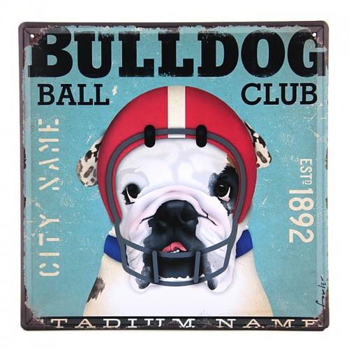 Μεταλλική Διακοσμητική Πινακίδα Τοίχου Bulldog 30X30 (Design)