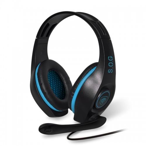 Gaming Ακουστικά Spirit Of Gamer με μικρόφωνο PRO-H5 SOG MIC-G715BL (Μαύρο-Μπλε)