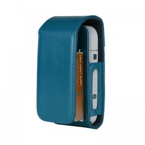 Θήκη από Συνθετικό Δέρμα και μαγνητικό clip για iQos (Μπλε)