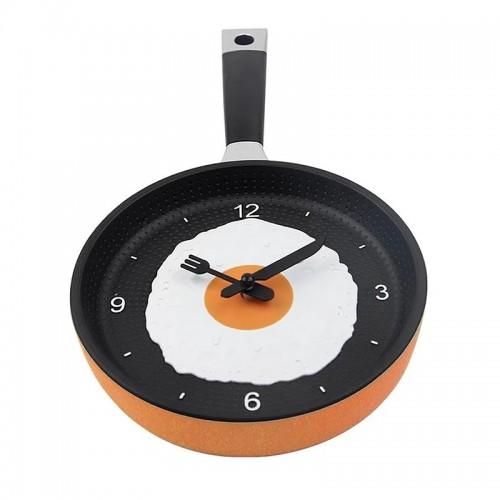 Ρολόι σε Σχήμα Τηγάνι με Αυγό (Πορτοκαλί)