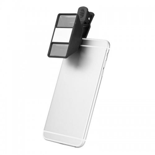 Mini 3D Στερεοσκοπικός Φακός Κάμερας Κινητού (Μαύρο)