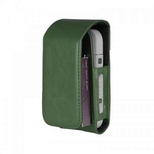 Θήκη από Συνθετικό Δέρμα και μαγνητικό clip για iQos (Πράσινο)