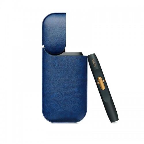 Θήκη από Συνθετικό Δέρμα για iQos (Μπλε)