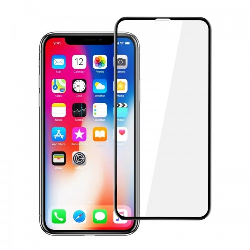 Tempered Glass Powertech 5D TGC-0240 για iPhone XS Max (Black)