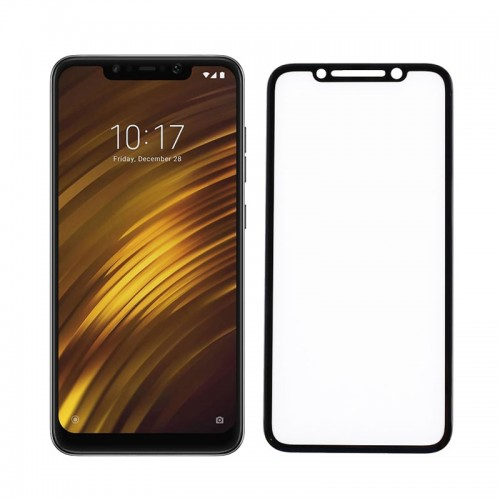 Tempered Glass Powertech 5D TGC-0307 για Xiaomi Pocophone F1 (Black)
