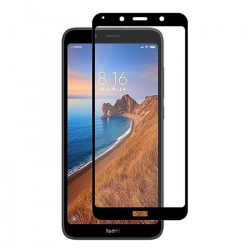 Tempered Glass Powertech 5D TGC-0318 για Xiaomi Redmi 7a (Black)