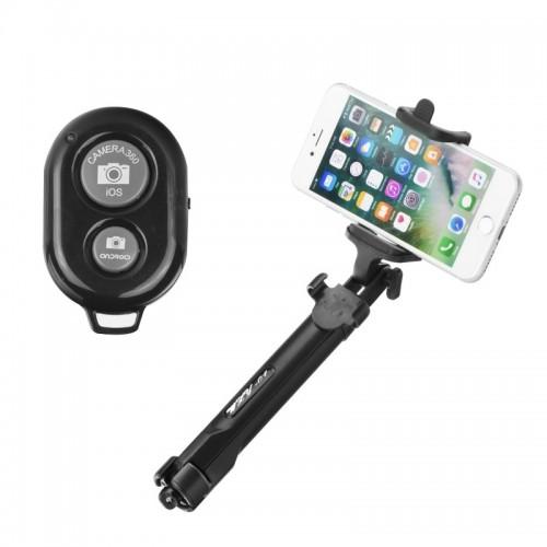 Τρίποδας και Selfie Stick Bluetooth K07 (Μαύρο)