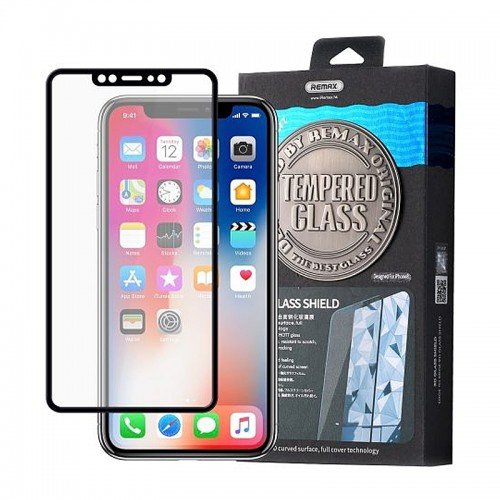 Tempered Glass Remax Caesar 3D Full Screen Front+Back για iPhone X/XS (Black)