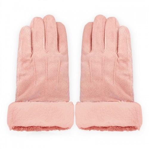 Γάντια για Οθόνες Αφής με Γουνάκι (Ροζ)