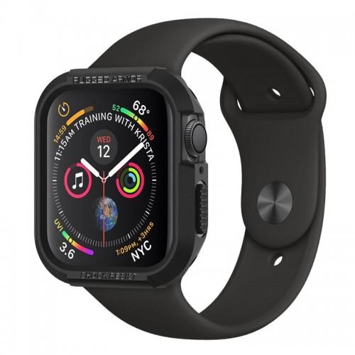 Θήκη Spigen Rugged Armor για Apple Watch Series 4 (44mm) (Black)