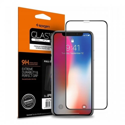 Tempered Glass Spigen Full Cover για iPhone XR (Black)