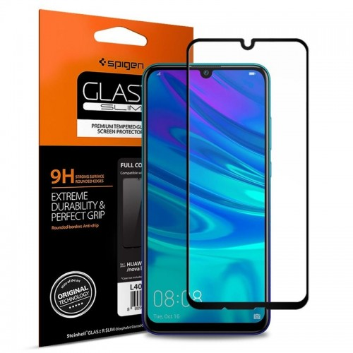 Tempered Glass Spigen Full Cover για Huawei P Smart 2019 (Black)