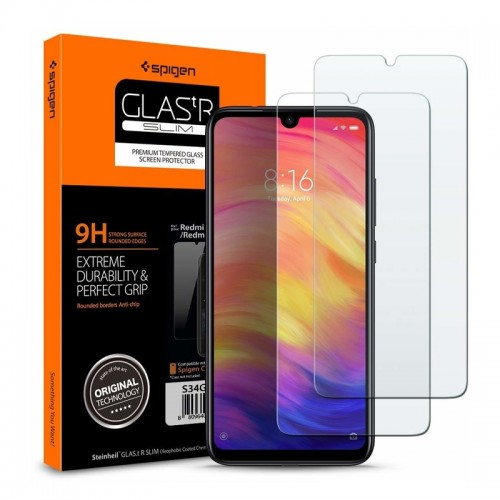 Tempered Glass Spigen Glas.TR Slim 2 Pack για Xiaomi Redmi Note 7 (Διαφανές)