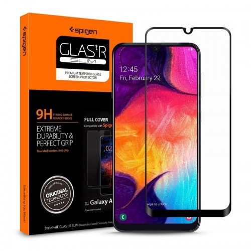 Tempered Glass Spigen Full Cover για Samsung Galaxy A50 (Black)