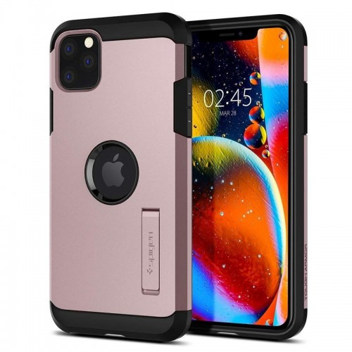 Θήκη Spigen Tough Armor Back Cover για iPhone 11 Pro Max (Rose Gold)