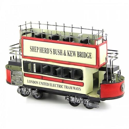 Διακοσμητικό Μεταλλικό Αγγλικό Τραμ (Design)