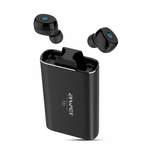Ασύρματο Bluetooth Ακουστικό με Βάση Φόρτισης Awei T85 (Μαύρο)