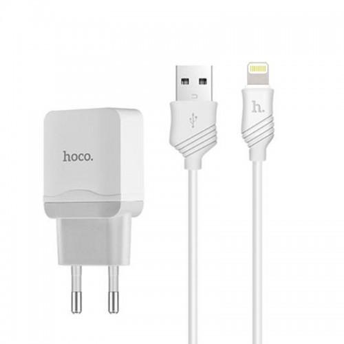 Φορτιστής Hoco C22A Lightning 2.4A (Άσπρο)