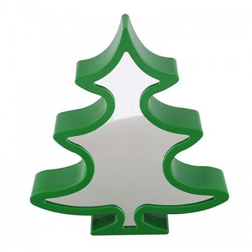 Καθρέφτης με Φως LED σε σχήμα 'Ελατο (Πράσινο)