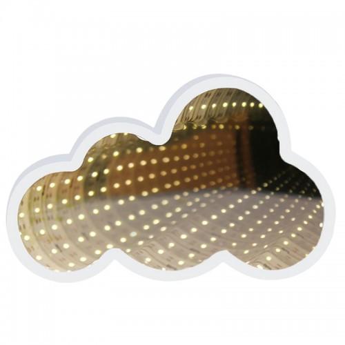 Καθρέφτης με Φως LED σε σχήμα Σύννεφο (Άσπρο)