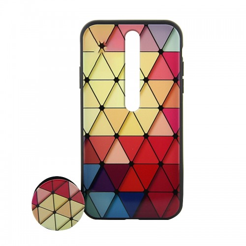 Θήκη με Popsocket Colorful Triangles Back Cover για Xiaomi Redmi 8 (Design)