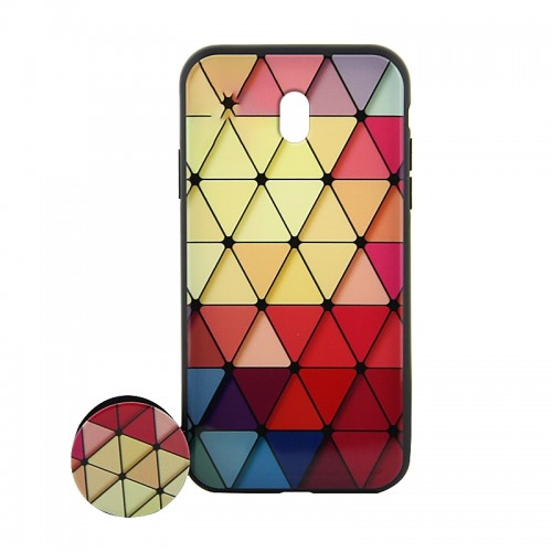 Θήκη με Popsocket Colorful Triangles Back Cover για Xiaomi Redmi 8A (Design)