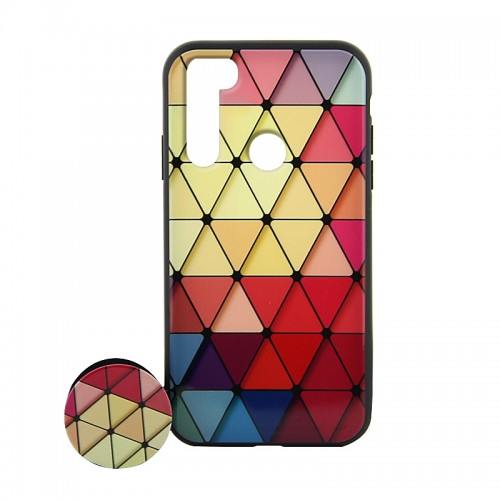 Θήκη με Popsocket Colorful Triangles Back Cover για Xiaomi Redmi Note 8T (Design)