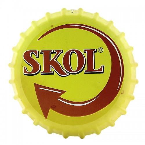 Διακοσμητικό Τοίχου Καπάκι Skol (Κίτρινο)
