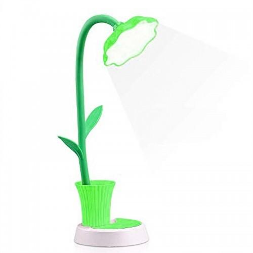 Φωτιστικό Μολυβοθήκη σε Σχήμα Γλάστρα με Λουλούδι (Πράσινο)