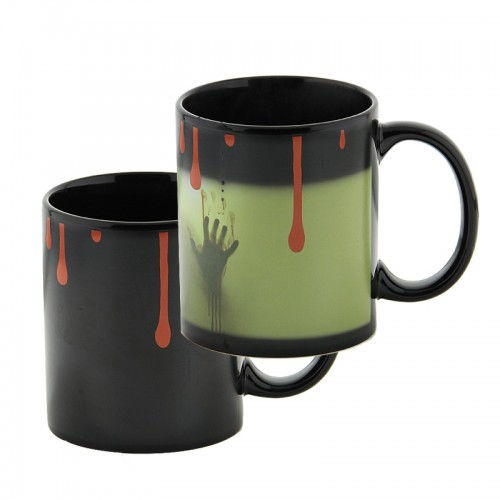 Κούπα με Εναλλαγή Σχεδίων Ανάλογα με την Θερμοκρασία Ghost Color (Μαύρο)