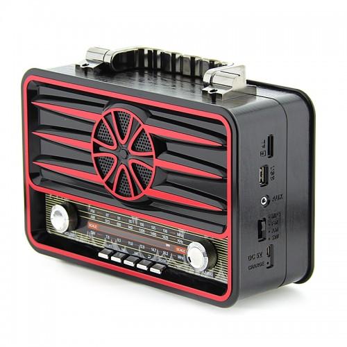 Ηχείο Bluetooth Kemai MD-1906BT (Μαύρο - Κόκκινο)